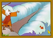 Moses parting the Red Sea (illustration)